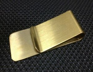 Outdoor EDC Simple Brass Money Clip Clamp Holder Wallet Pocket travelling Tool