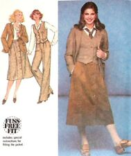 Simplicity 8702 Pattern 80's Pants Skirt Vest Jacket Outfit Size 16 New Uncut