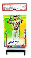 2014 Finest Refractor RC Autograph Cardinals KOLTEN WONG Card PSA 9 MINT Pop 13
