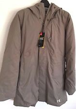 2017 NWT Womens UA Under Armour Reactor Voltage Jacket 10K S Small Taupe sx431