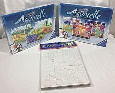 2 Ravenburger Aquarelle Watercolor Jigsaw Puzzle Kits Plus Six More Blank Puzzle
