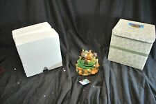 Fitz And Floyd Charming Tails Leaf And Acorn Music Box - Tested - Works -A14