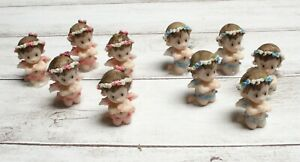 12 Praying Angel Girl or Boy Figurine Recuerdos de Bautizo Party Favors Keepsake