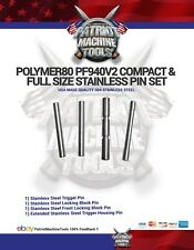 Polymer80 Stainless Steel Pin Set for Pf940v2 Fullsize & Compact Glock 4pc