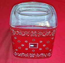 INSANLEY RARE!!! Tommy Hilfiger Red Bandana Print Tissue Box Cover