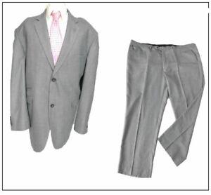 "House Of Cavani mens 2 piece suit Ch60""S W56"" L29"" Grey Sharkskin"