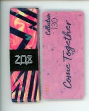 Medium ZOX Silver Strap COME TOGETHER Wristband with Card Reversible