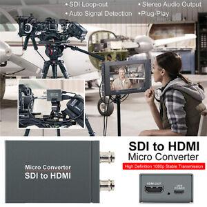 1 port to 2 SDI to HDMI + SDI Mini HD Video Switcher Micro Audio Converter A8