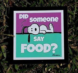 Peanuts ☆ Snoopy ♡ FOOD ? ♡ Magnet ♡