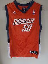 Vintage Adidas Charlotte Bobcats Emeka Okafor # 50 Basketball Jersey Youth Med