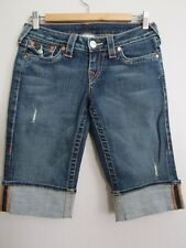 True Religion Sophie Bermuda Cuff Flap Pocket Shorts 26 EUC  CG