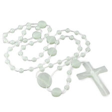 Rosary Plastic Glow in the Dark Beads Our Lady of Miracles Miraculous Lot of 25