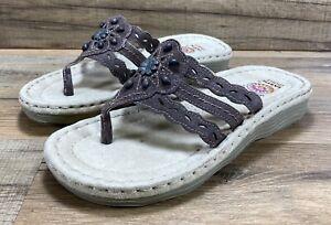 Earth Spirit Womens Slip On Comfort Flip Flop Sandals Women's Size 6.5 NEW