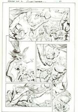 Aquaman Annual #2 p.21 - Wonder Woman Frozen - 2014 art by Wayne Faucher