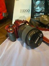 Nikon D3200 24.2 MP Digital SLR Camera - Red (Kit w/ AF-S DX VR 18-55mm Lens)