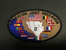 Us And Allied Forces Operation Joint Endeavor Patch Measures 5 X 3 1/4 Inches