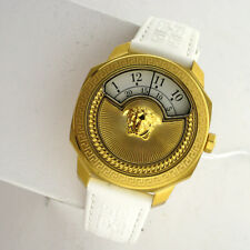 Versace Swiss VQU010015 Dylos White Leather Band Womens Rotating Dial Watch