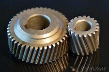 2 Zahnrad Schrägverzahnung Getriebe 12+8mm Antrieb Schraubenrad Zahnräder Stahl