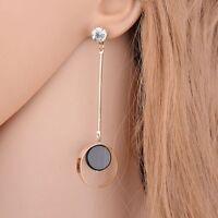 1 Pair Women Crystal Jewellry Charm Earrings Ear Stud Long Dangle For Girls