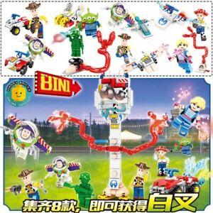 8 pack Toy Story 4 Buzz lightyear Woody  Building Blocks Kids Fun Toys