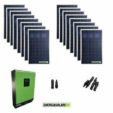 Kit Casa Solare Fotovoltaico 4.4KW Inverter 5KW 48V regolatore MPPT 80A