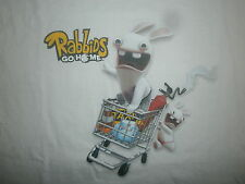 RABBIDS GO HOME T SHIRT Raving Rayman Rabbit Grocery Cart Taxi Video Game Medium