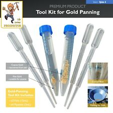Gold Panning Tool Kit | Recover colour/flakes from pan | vial (x2) pipette (x4).