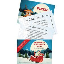 Kids Christmas Scavenger Hunt Xmas Eve Box Treasure Game Stocking Fillers Games
