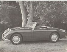Original 1959 Austin Healey Sprite Specification Sheet