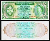 BELIZE 1 $ DOLLAR P 33c 1976 VF > QE II