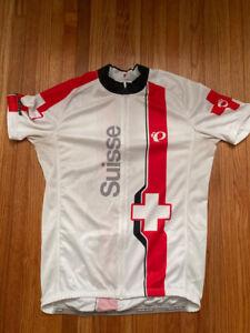 Peal Izumi Elite Switzerland Swiss Suisse Red White Men's Size Large Road Bike