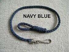 BELT LANYARD for Keys / Wallet made with NAVY BLUE braided Paracord - NEW