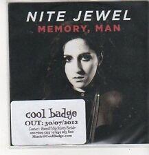 (CZ482) Nite Jewel, Memory Man - 2012 DJ CD
