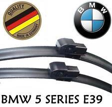"BMW 5 series E39 1995-2004 Front Wiper Blade Set Aero Flat Frameless 26"" 22"""