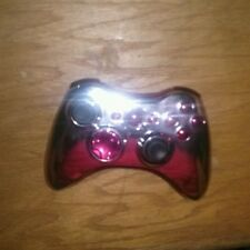 10 mode modded controller with chrome shell and red buttons