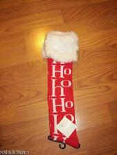 WOMENS KNEE HIGH HO HO HO CHRISTMAS~HOLIDAY SOCKS~WHITE FAUX FUR~NWT