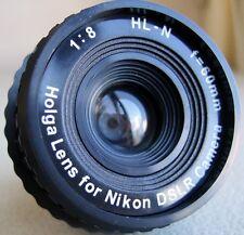 AU - Holga HL-N 60mm f/8 Toy Lens for Nikon Digital DSLR D7000 D800 Camera lomo