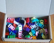 """Paracord Buckle Clips 100Pcs 3/8"""" for 550 Paracord Bracelet Mix 10+ Colors DIY"""