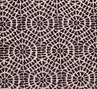 Octagon Geometric Lavender Purple Cut Velvet Linen Designer Fabric By The Yard