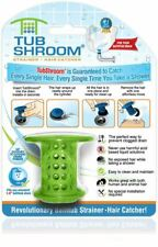 TubShroom® (Green) Revolutionary Hair Strainer Snare Trap Catcher for Shower Tub