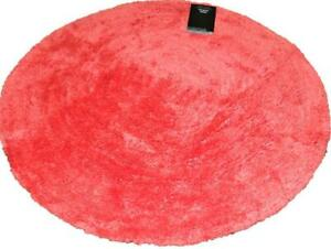 Catherine Lansfield 65cm x 65cm Round Circle Bedroom Rug - Red - New