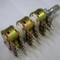Panel Mount PCB 6 x Step x 10k Linear 6x10k Rotary Volume Tone Potentiometer Pot