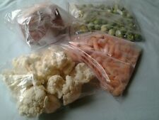 50 STRONG RESEALABLE LARGE FOOD/FREEZER BAGS SIZE approx 25 cm x 25 cm