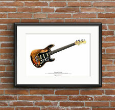 Stevie Ray Vaughan's Stratocaster Number One guitar ART POSTER A2 size