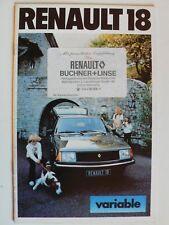 Prospekt Renault 18 variable TL / TS, 1979, 24 Seiten, DIN A5