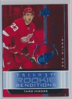 2019-20 Trilogy Rookie Renditions RR-33 Taro Hirose /399 Detroit Red Wings
