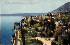 Gardone Italien Cartolina Gardasee 1924 datiert Giardino verso il lago di Garda