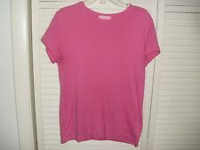 LILLY PULITZER LOGO PINK CAP SLEEVE PULLOVER TOP SZ M EUC
