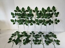 Pack of 12 Artificial Rose Leaf Spray Green - 15 Leaves - Fake - Summer - Spring