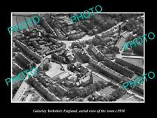 OLD 6 X 4 HISTORIC PHOTO OF GUISELEY YORKSHIRE ENGLAND, TOWN AERIAL VIEW c1930 2